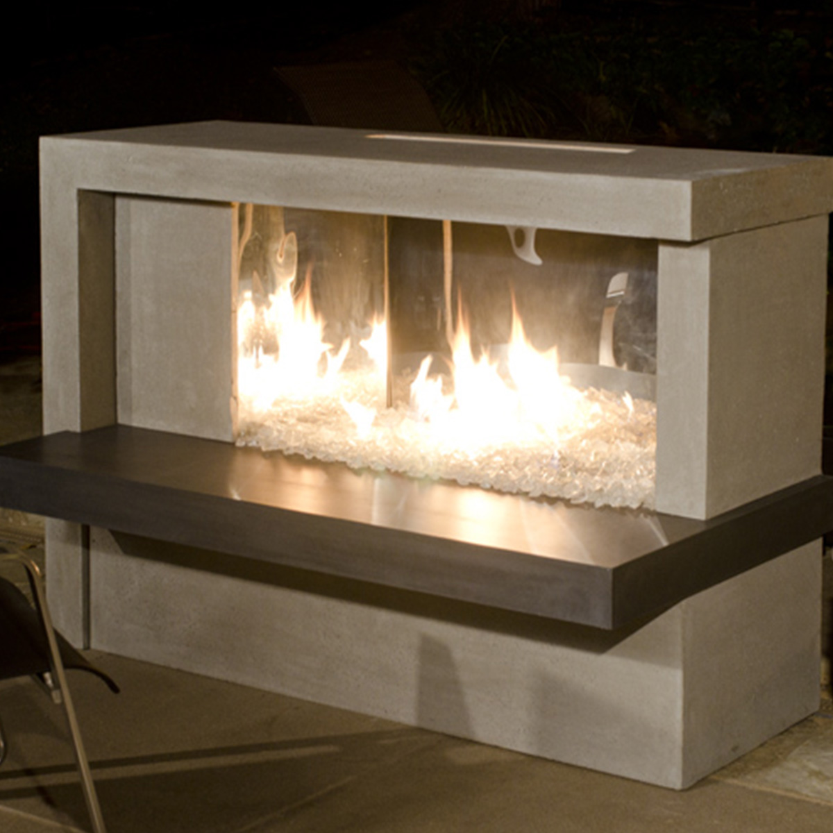 Manhattan Fireplace W Stainless Steel Firebox Spa Doctor