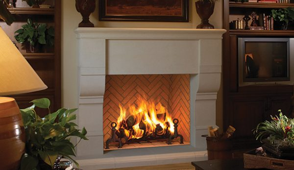 Astria Grand Meridian Wood Fireplace