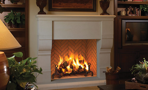 Astria Grand Meridian Wood Fireplace