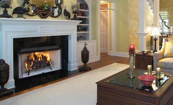 Craftsman Wood Fireplace